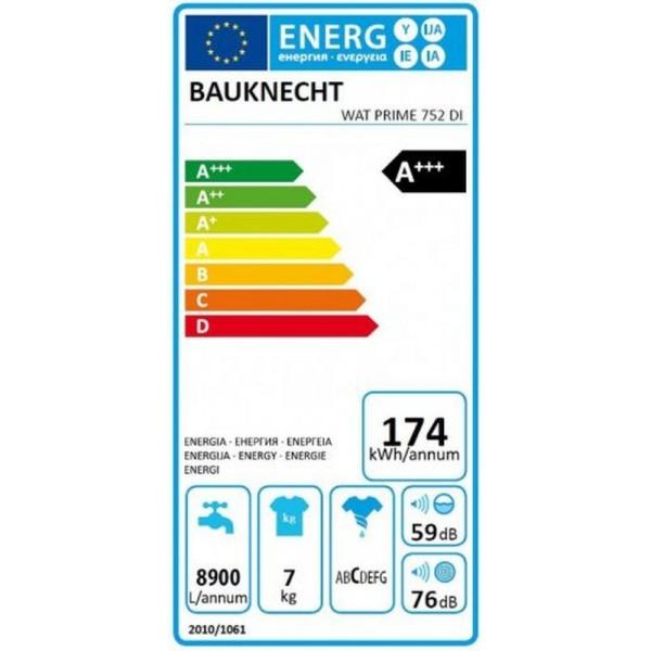Bauknecht  WAT PRIME 752 DI szépséghibás 7kg 1200 ford A+++ felültöltős mosógép