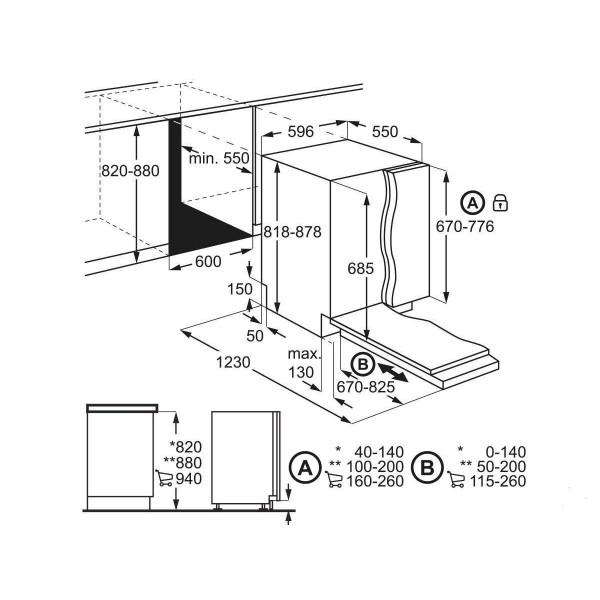 AEG FAV2 OVI1P szépséghibás A++ 12 terítékes beépíthető mosogatógép