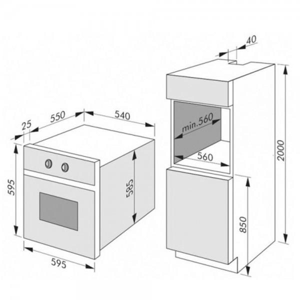 Amica 54581 (EB23549E) csomagolássérült beépíthető sütő